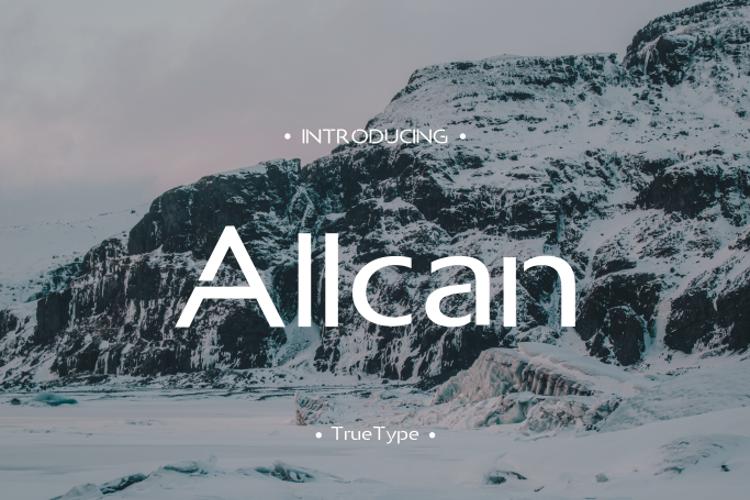 Allcan Font