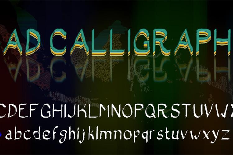 Bad Calligraphic Font