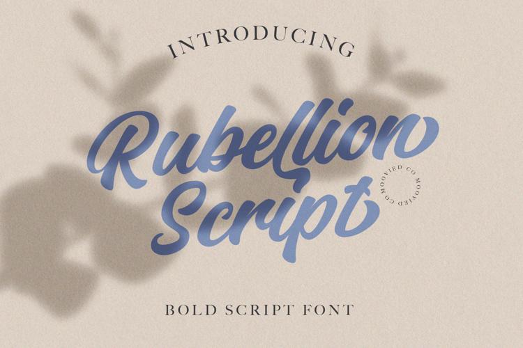 Rubellion Script Personal Font