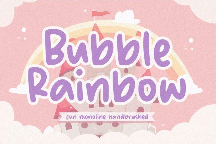 Bubble Rainbow Font