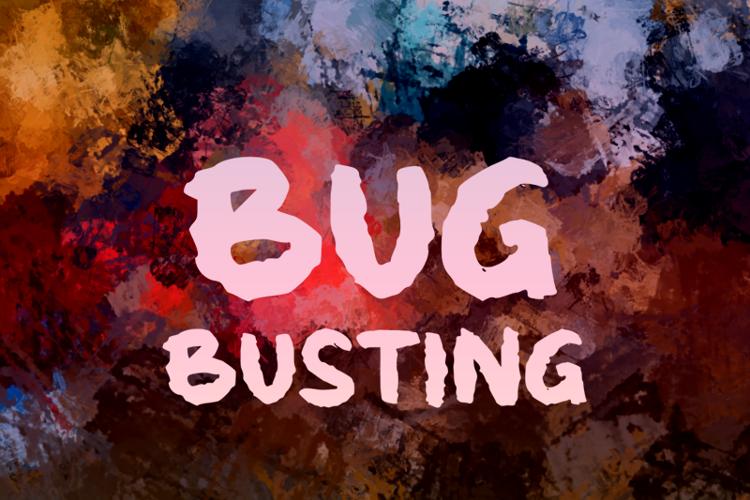 b Bug Busting Font