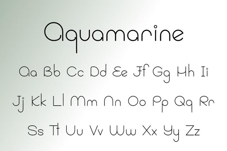 Aquamarine Font