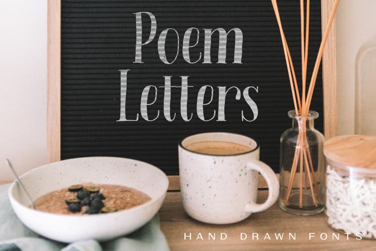 Poem Letters Serif Font