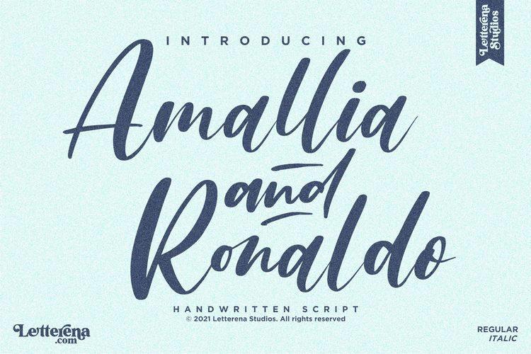 Amallia and Ronaldo Font