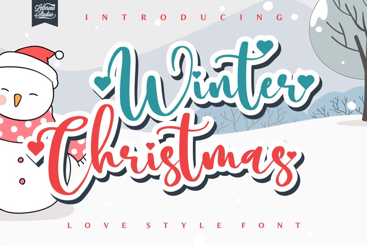 Winter Christmas Font
