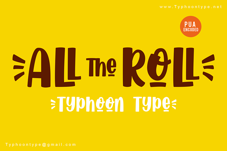 All The Roll Font