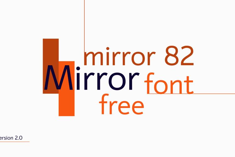 mirror 82 Font