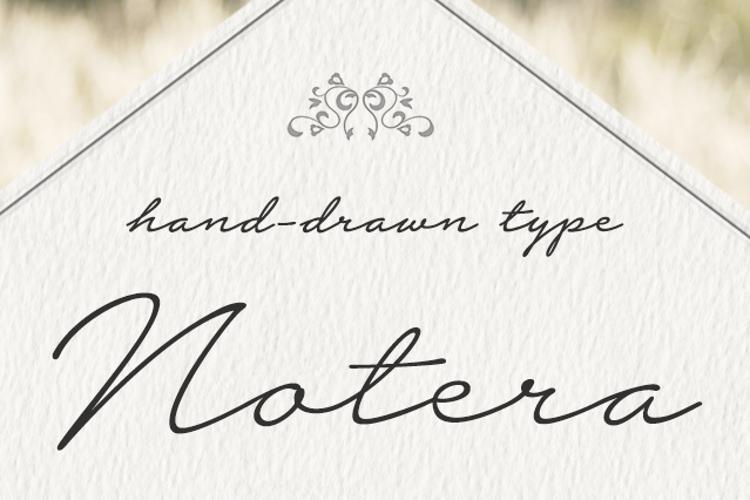 Notera 2 Underline Font