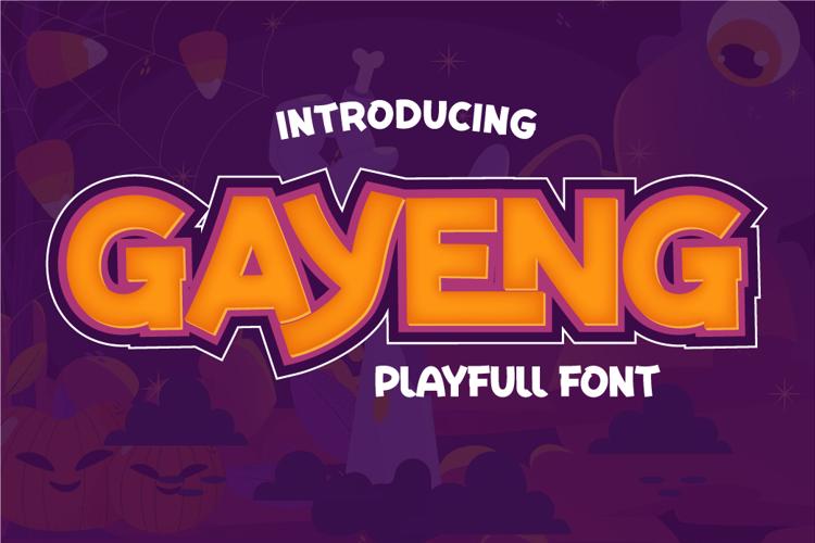 GAYENG Font