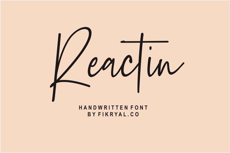 Reactin Font