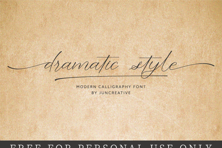 dramatic style - Font