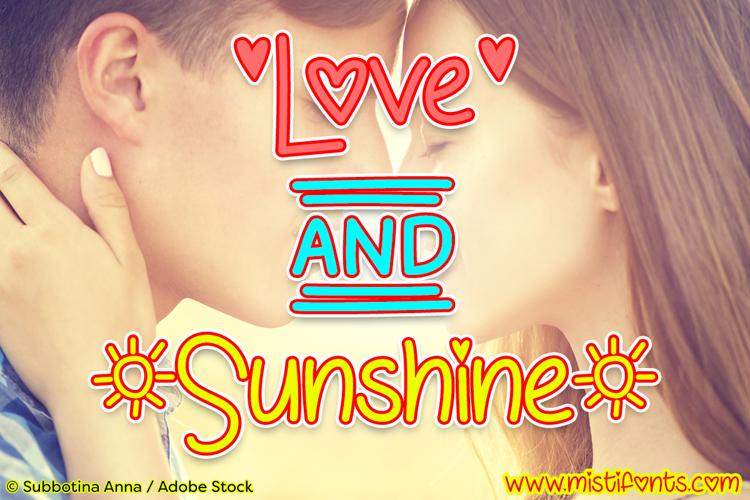 Love & Sunshine Font