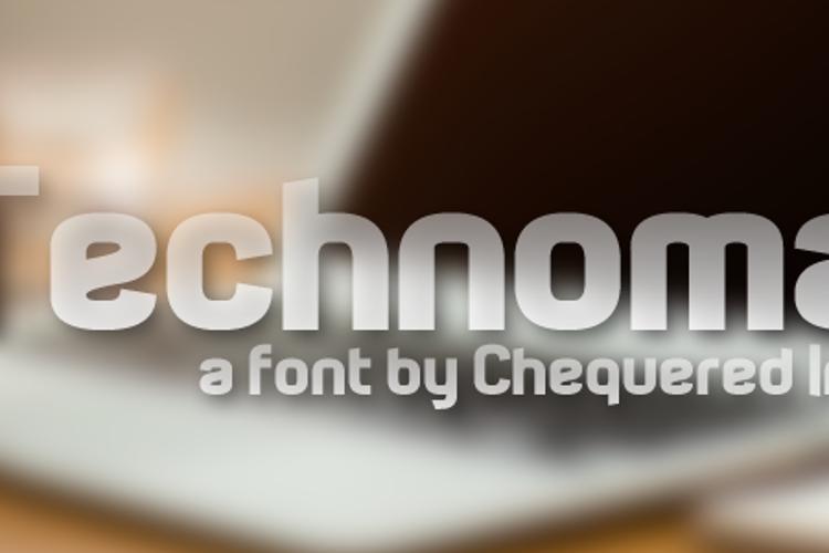 Technoma Font