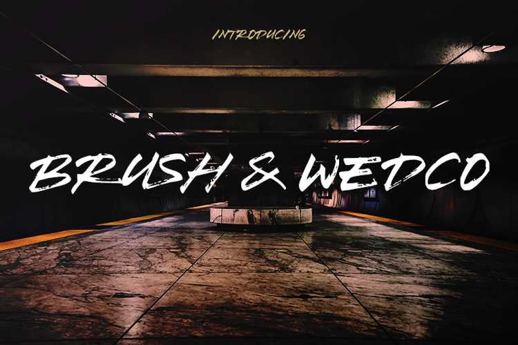 Brush Wedco Font