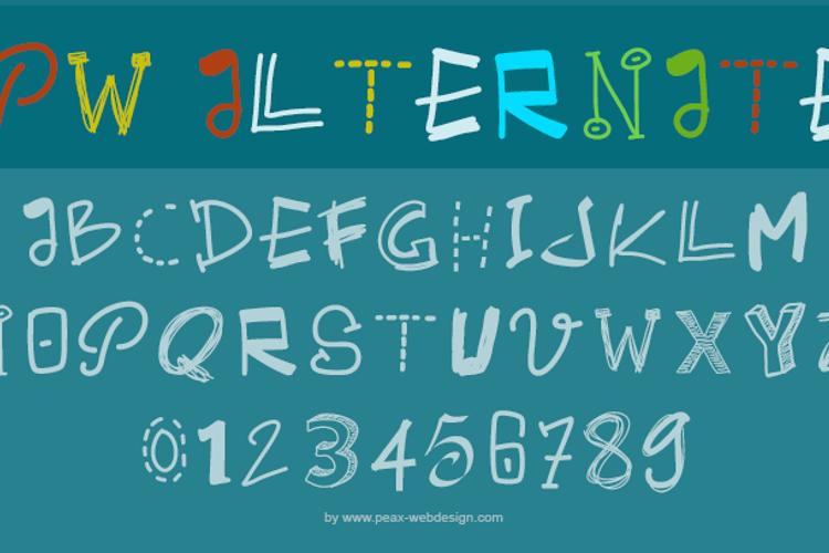 PWAlternate Font
