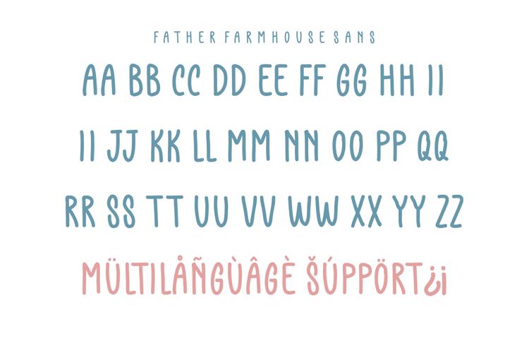 Father Farmhouse Sans Font