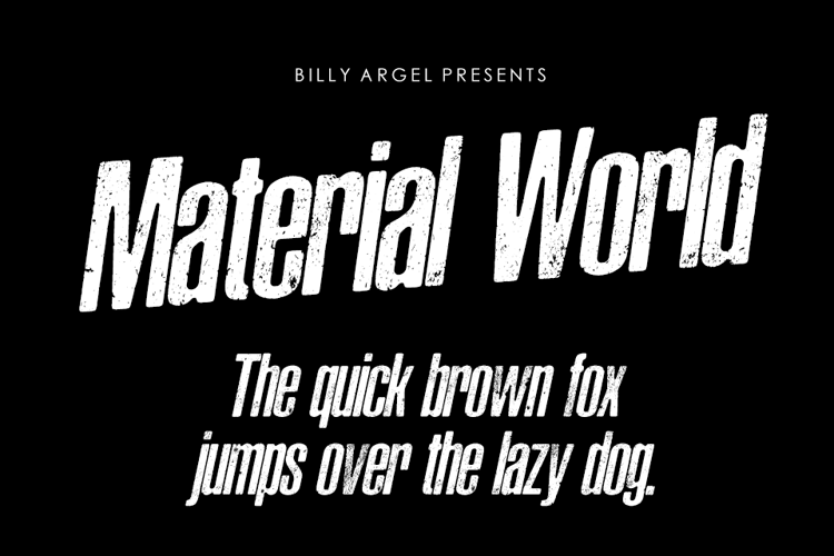 Material World Font