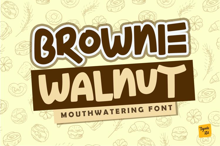 Brownie Walnut Font