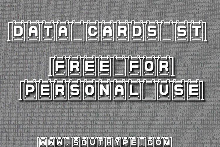 Data Cards St Font