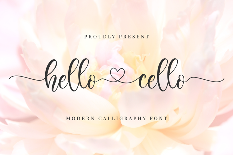 Hello Cello Font