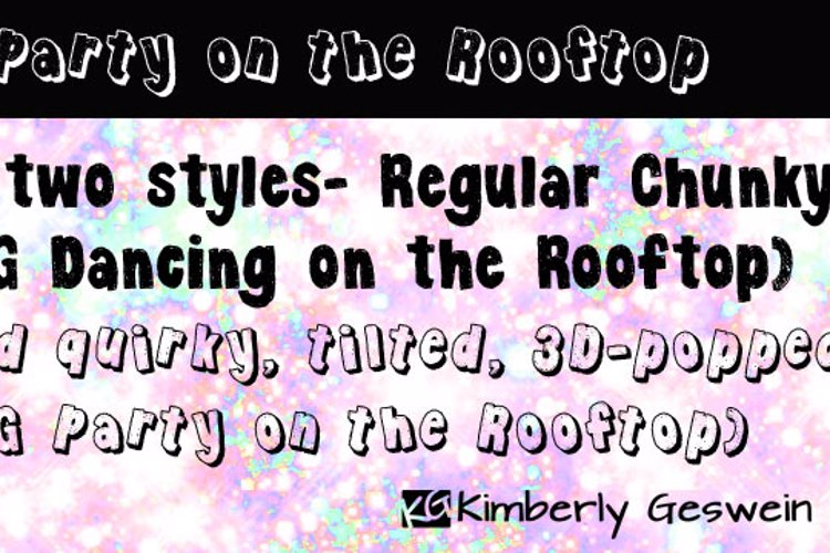 KG Party on the Rooftop Font