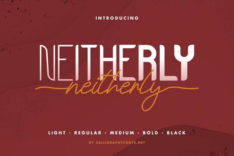 Neitherly Script Font
