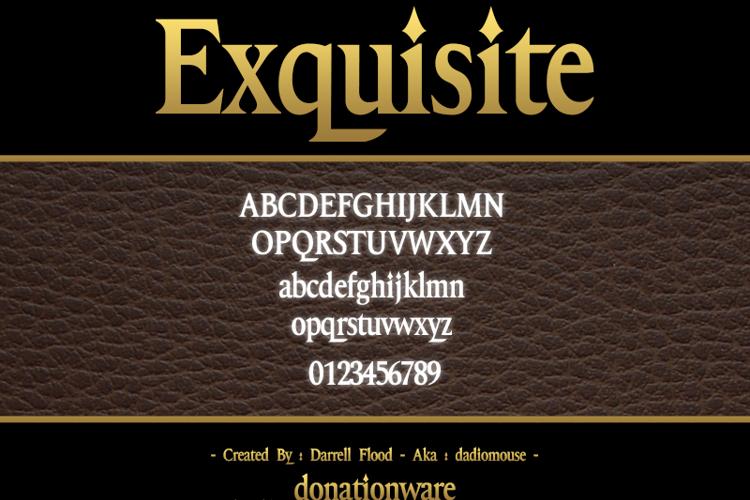 Exquisite Font
