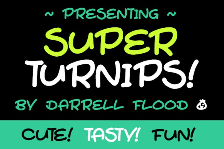 Super Turnips Font