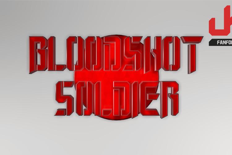 Bloodshot Soldier Font