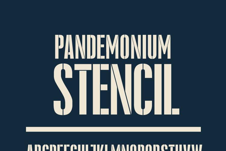 Pandemonium Stencil Font
