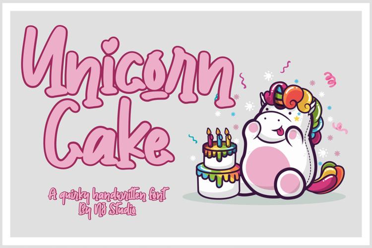 Unicorn Cake Font