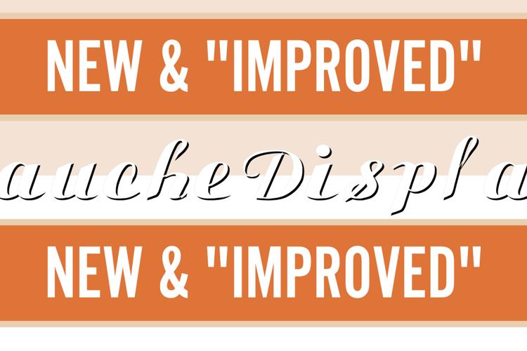Gauche Display Font