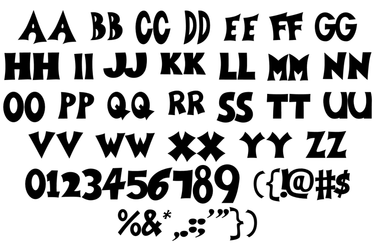 Zoboo Type Font