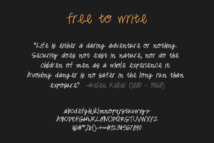 freetowrite Font