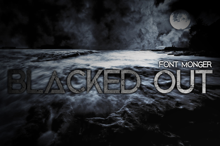 Blacked Out Font