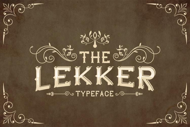 The Lekker Font