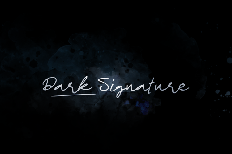 d Dark Signature Font