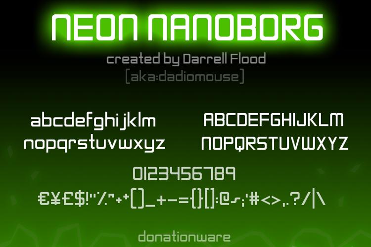 Neon Nanoborg Font