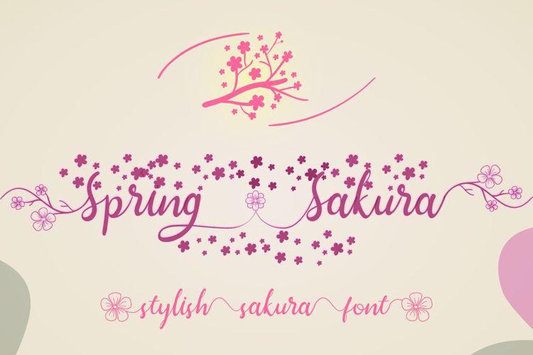 Spring Sakura Font