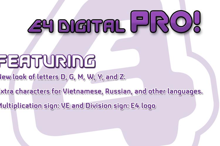 EFour Digital Pro Font