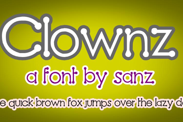 Clownz Font