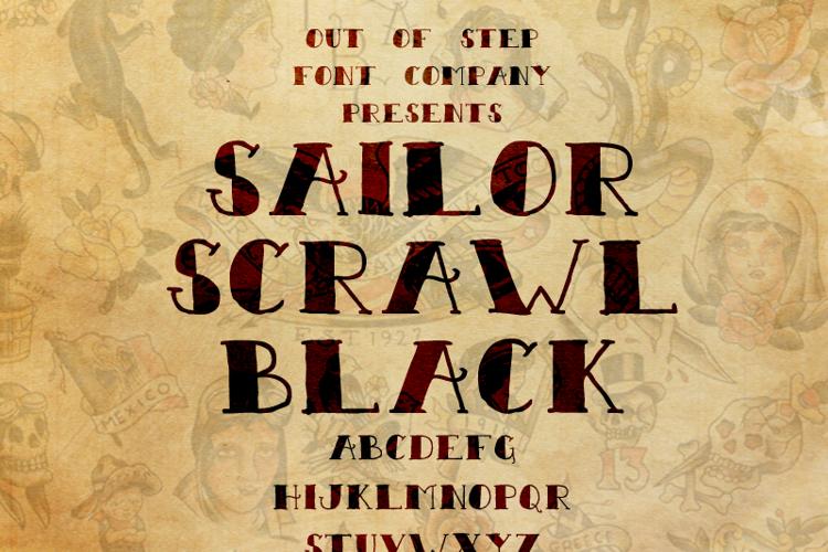 Sailor Scrawl Black Font