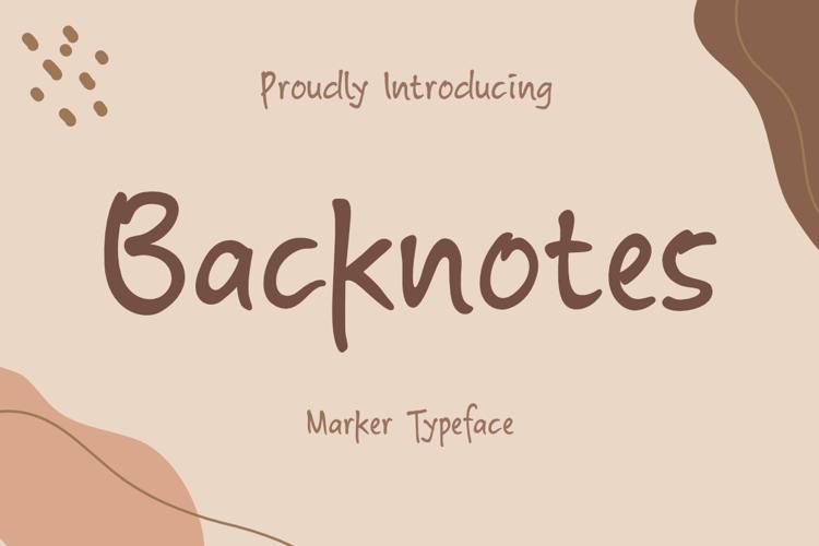 Backnotes Font