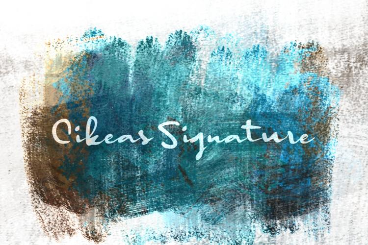 c Cikeas Signature Font