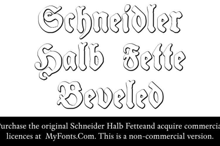 Schneidler Halb Fette Beveled Font