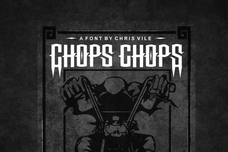 Chops chopS Font