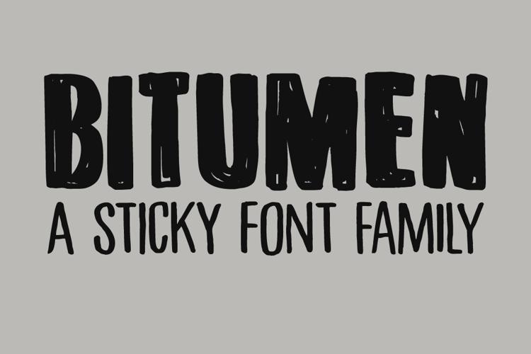 DK Bitumen Font