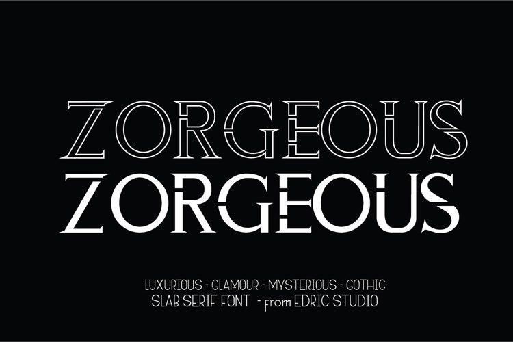 ZORGEOUS Font