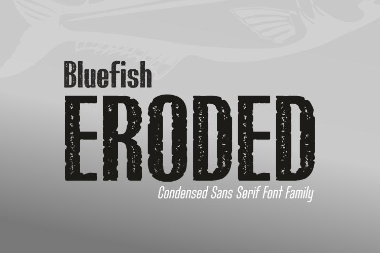 Bluefish_ERODED DEMO Font