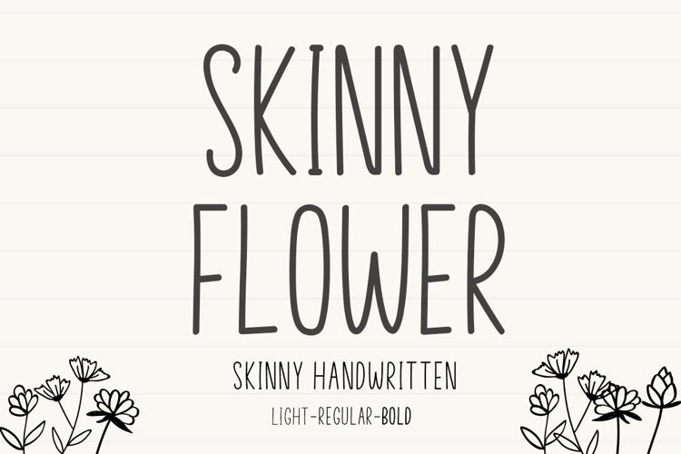 Skinny Flower Font